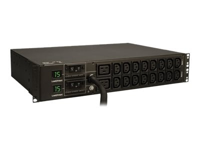 Open Box Tripp Lite Metered PDU 5.8kW 208V 240V 30A 2U RM L6-30P Input 12ft Cord (16) C13 (2) C19 Outlets