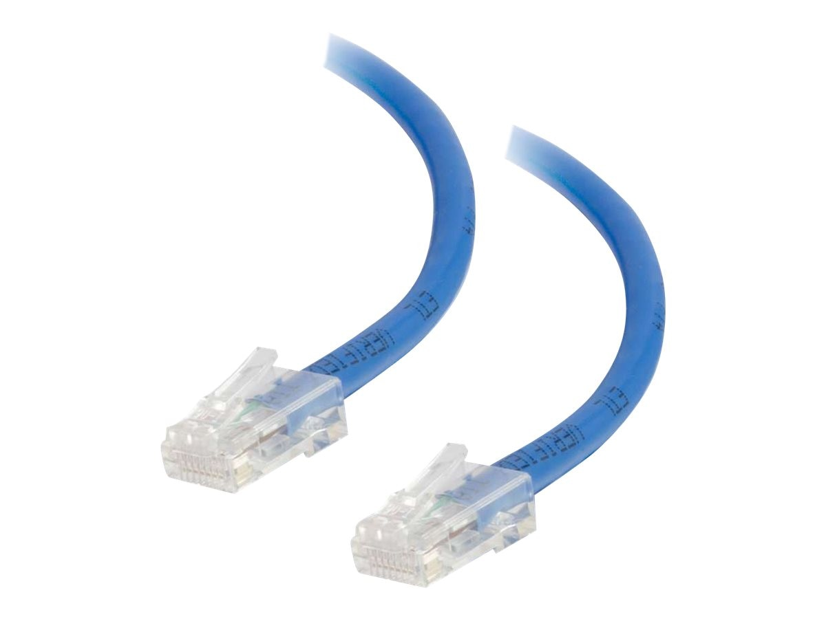 C2G Cat5e Non-Booted Unshielded (UTP) Network Patch Cable - Blue, 1ft