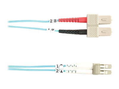 Black Box 10 GbE Fiber Patch Cable, SC-LC, Multimode, 1m, FO10G-001M-SCLC, 13631653, Cables