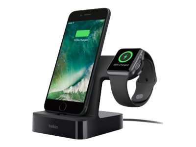 Belkin Valet Charge Dock for Apple Watch, iPhone, White, F8J200TTWHT