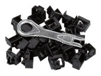 Black Box LockPORT Secure Port Locks, Black, w  Removal Tool, (25-pack), PL-AB-BK-25PAK, 16991718, Security Hardware