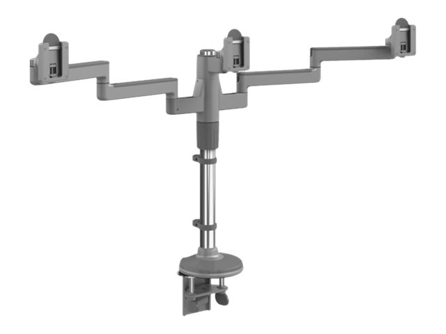 Humanscale MFLEX M2 Monitor Arm with Triple Display Support, Clamp Mount, (2) 12 Straight Arms