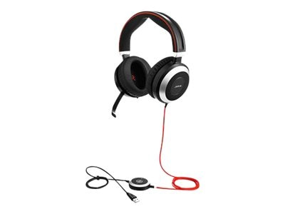 Jabra Evolve 80 MS Stereo Headset, 7899-823-109, 17917296, Headsets (w/ microphone)