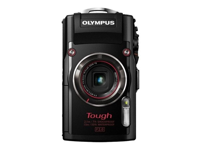 Olympus Stylus TOUGH TG-4 Digital Camera, 16MP, 4x Zoom, Black, V104160BU000, 19857961, Cameras - Digital - Point & Shoot