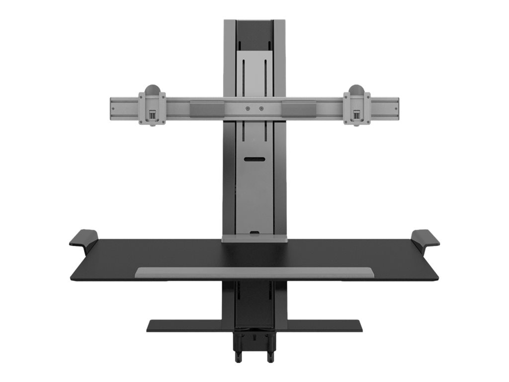 Humanscale QuickStand Dual-Monitor Stand, Black