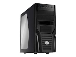 Cooler Master Chassis, Elite 431 Plus Tower, ATX MATX, 7x3.5 Bays, 3x5.25 Bays, 7xSlots, Side Window, Black, RC-431P-KWN2, 13477334, Cases - Systems/Servers