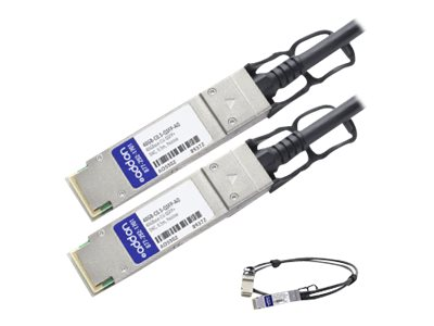 ACP-EP 40GBase-CU QSFP+ to QSFP+ Direct Attach Passive Twinax Cable, 0.5m, 40GB-C0.5-QSFP-AO, 18190720, Cables