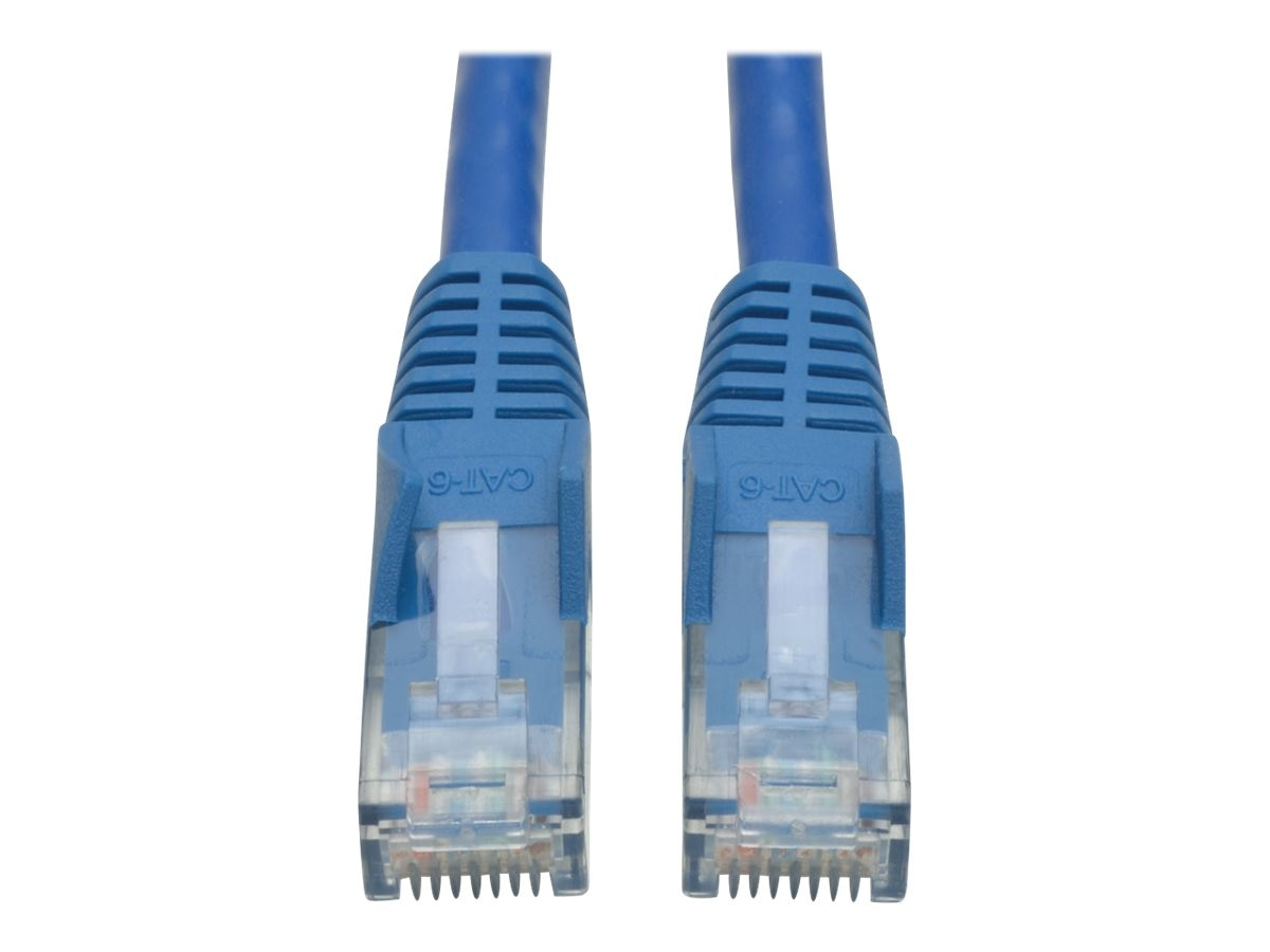 Tripp Lite Cat6 Gigabit Snagless Molded UTP Patch Cable, Blue, 30ft, N201-030-BL