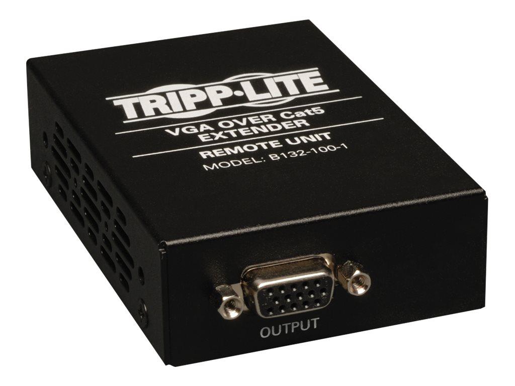 Tripp Lite VGA over Cat5 Cat6 Extender, Receiver, 1920x1440 at 60Hz, TAA, GSA