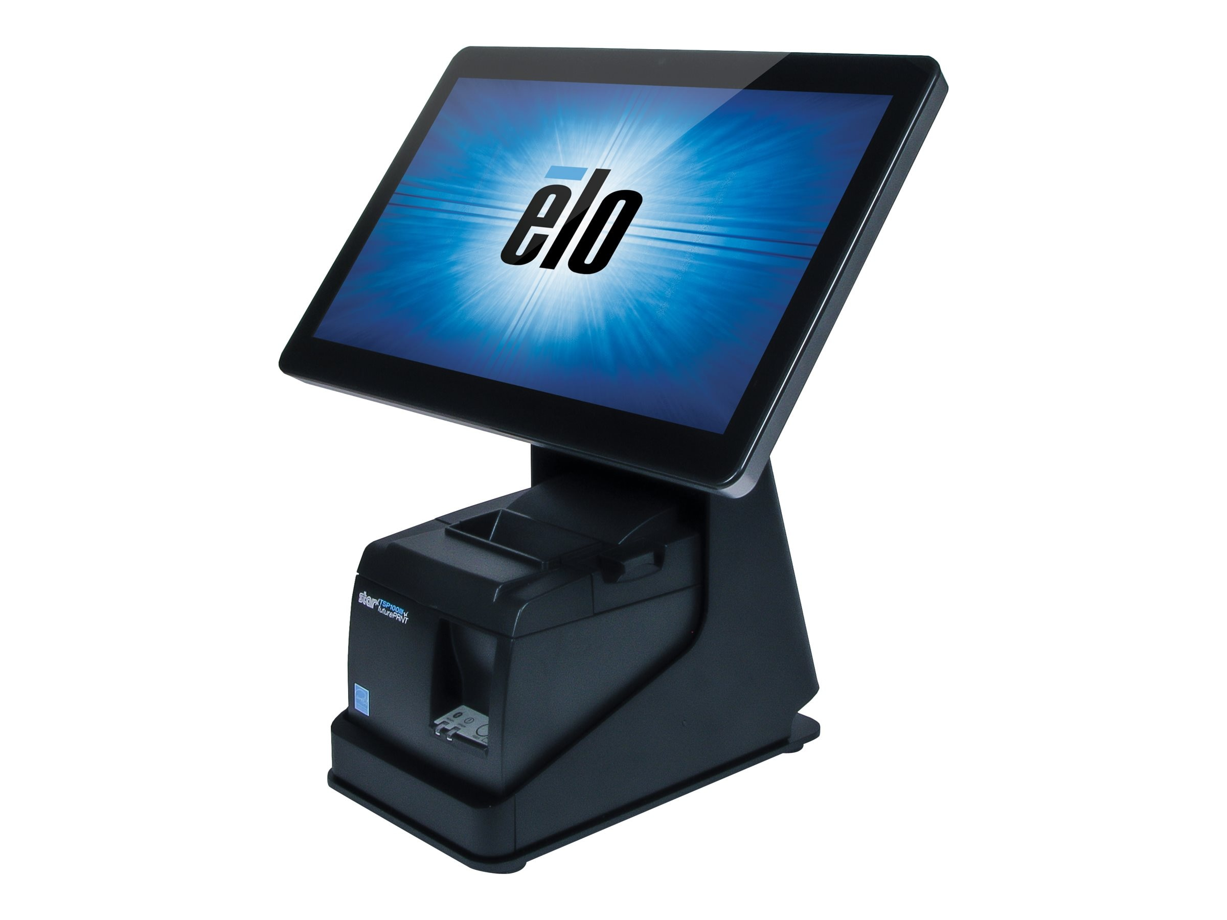 ELO Touch Solutions mPOS Printer Stand for 10 and 15 I-Series, Black