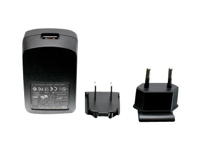 IOGEAR USB Power Adapter w  US & EU Plugs, 1A USB Wall Charger, GPA60002