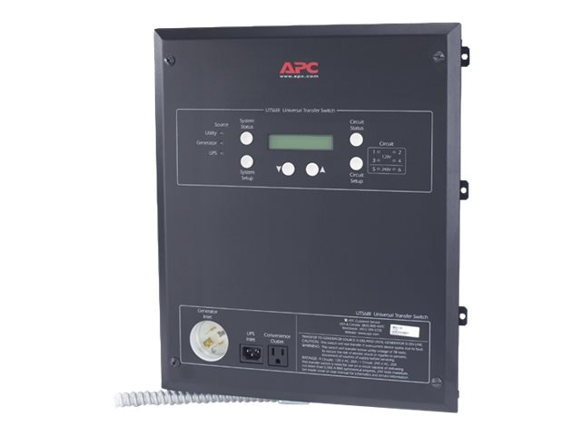 APC Universal Transfer Switch 6-Circuit 120 240V, UTS6BI, 8118708, Premise Wiring Equipment