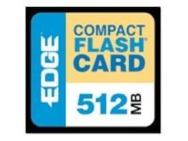Edge 512MB CompactFlash Card, PE179502, 437301, Memory - Flash