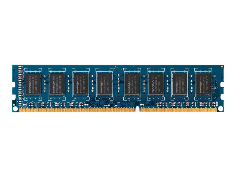 HP 4GB PC3-12800 240-pin DDR3 SDRAM DIMM for Select Elite, Pro Series Models, B4U36AT, 14400363, Memory