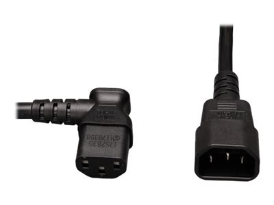 Tripp Lite AC Power Cord, C13-Left Angle to C14, 2ft, P004-002-13LA
