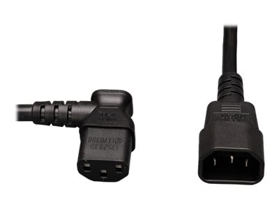Tripp Lite AC Power Cord, C13-Left Angle to C14, 2ft