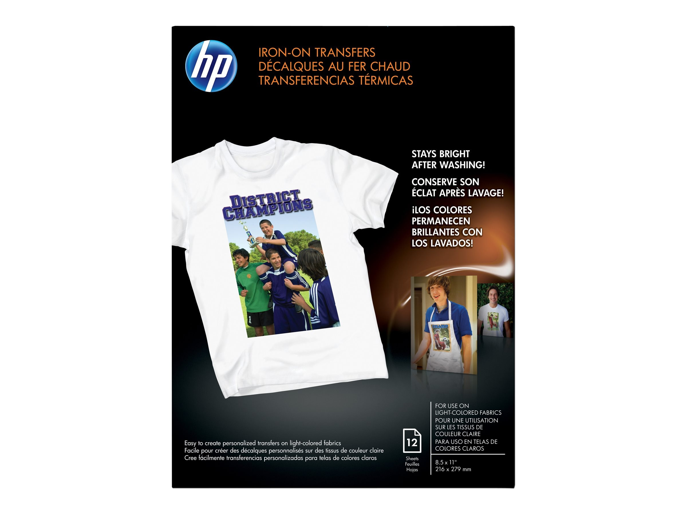 HP Iron-on T-Shirt Transfers - 10 Sheets C6049A, C6049A