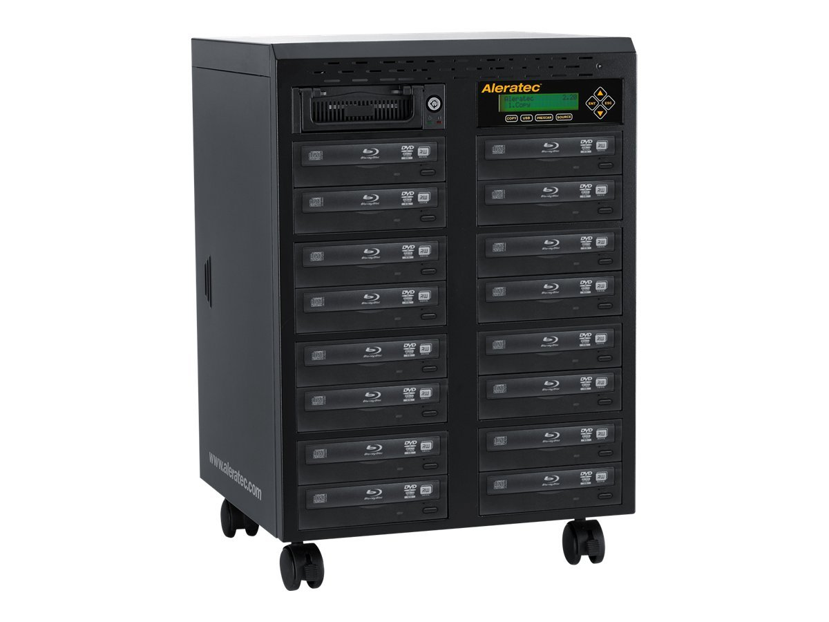 Aleratec 1:15 Blu-ray DVD CD Duplicator, 260206, 14021937, Disc Duplicators