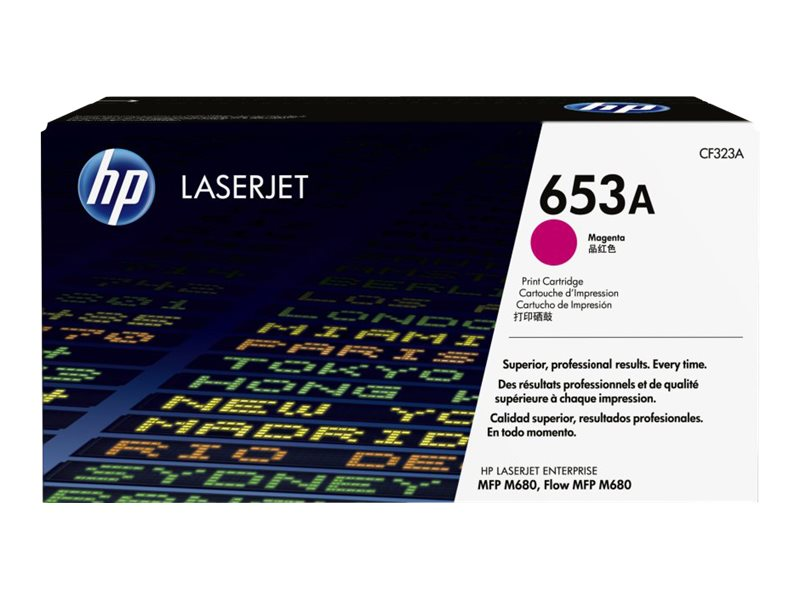 HP 653A (CF323A) Magenta Original LaserJet Toner Cartridge for HP LaserJet Enterprise MFP M680 Series