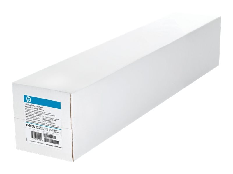 HP 42 x 200' White Satin Poster Paper, CH010A
