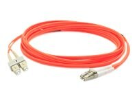 ACP-EP Multi-Mode Fiber Duplex SC LC OM1 Patch Cable, Orange, 2m