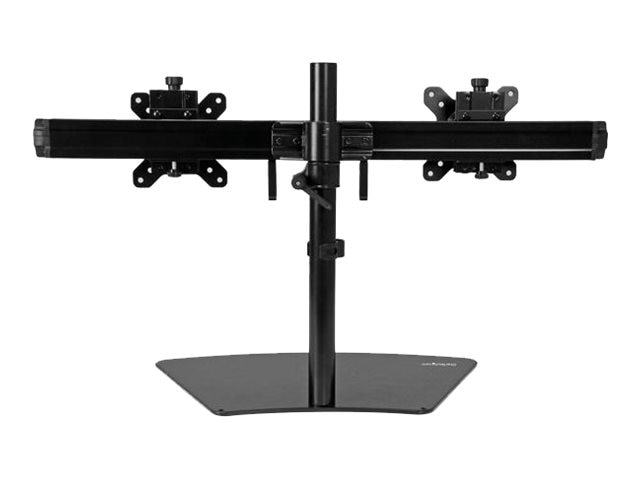 StarTech.com Dual Monitor Stand for Displays up to 24, Black, ARMBARDUO