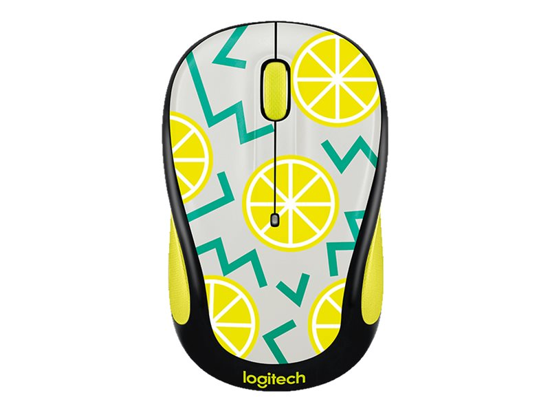 Logitech M325c Wireless Optical Mouse, Lemon, 910-004682