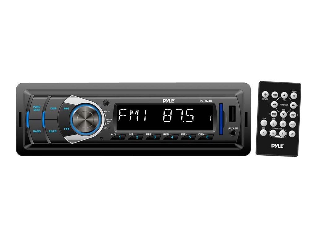 Pyle Digital Receiver w  AM FM, USB, SD, MP3, AUX In & DC 12-24V Dual Voltage, PLTR24U