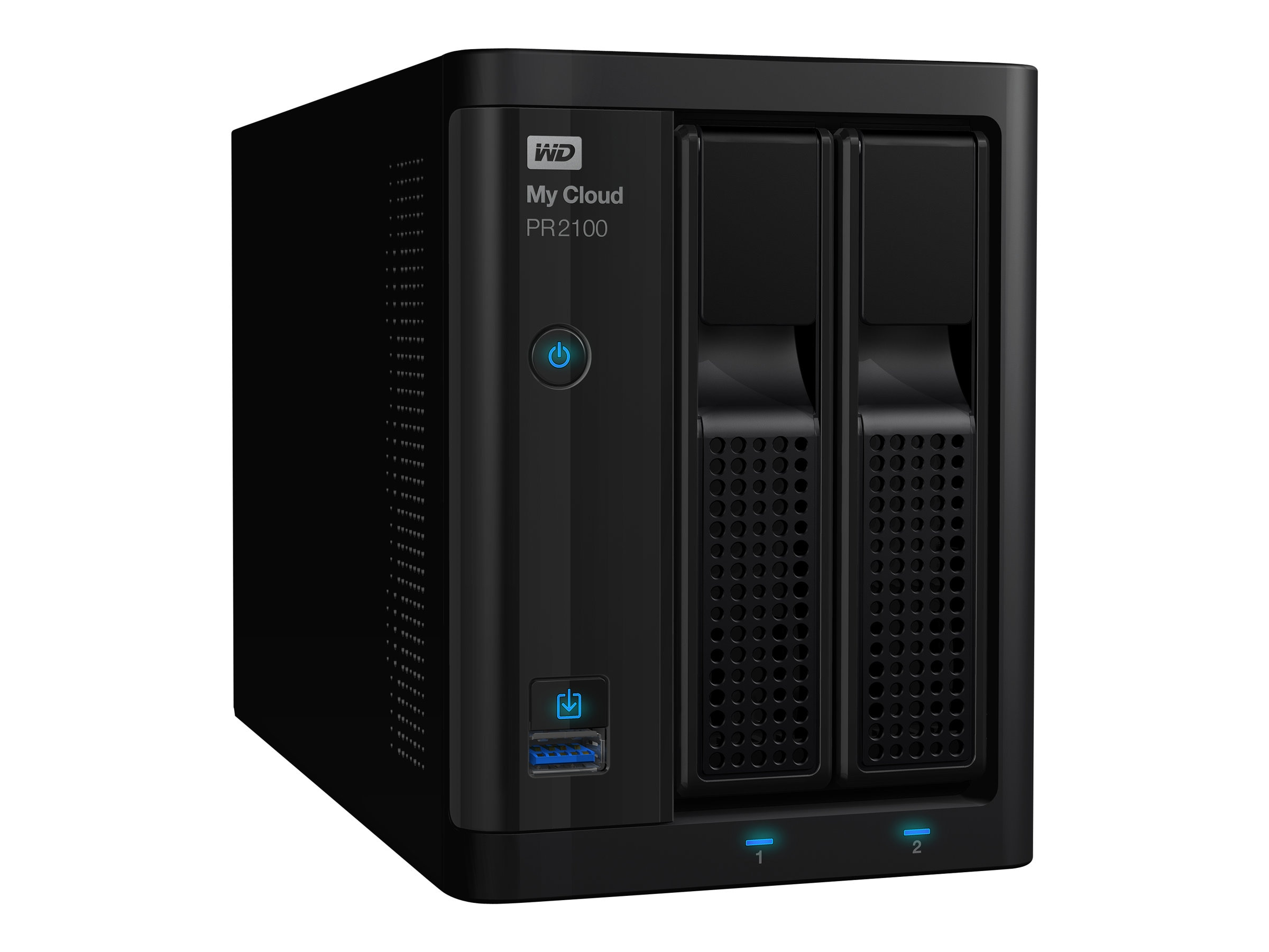 WD My Cloud Pro Series PR2100 Storage - Diskless, WDBBCL0000NBK-NESN