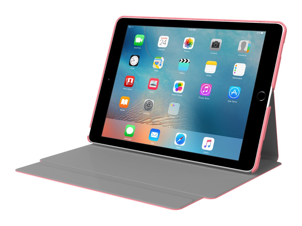 Incipio Faraday Folio Case w  Magnetic Fold-over Closure for iPad Pro 9.7, Coral