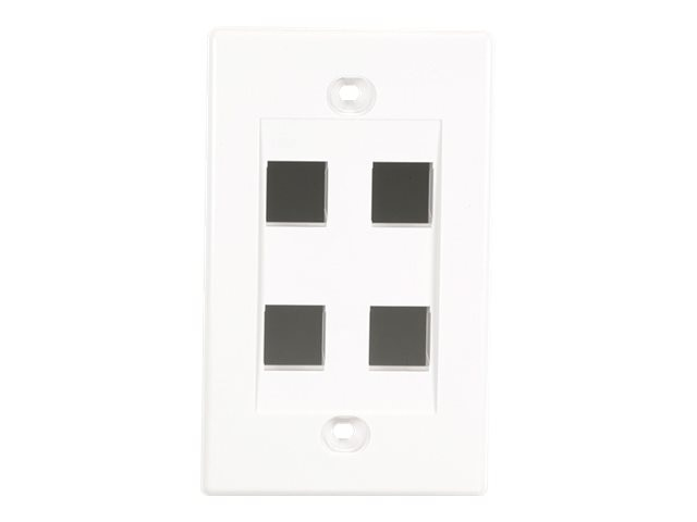 Black Box Single Gang Plate 4-Port White
