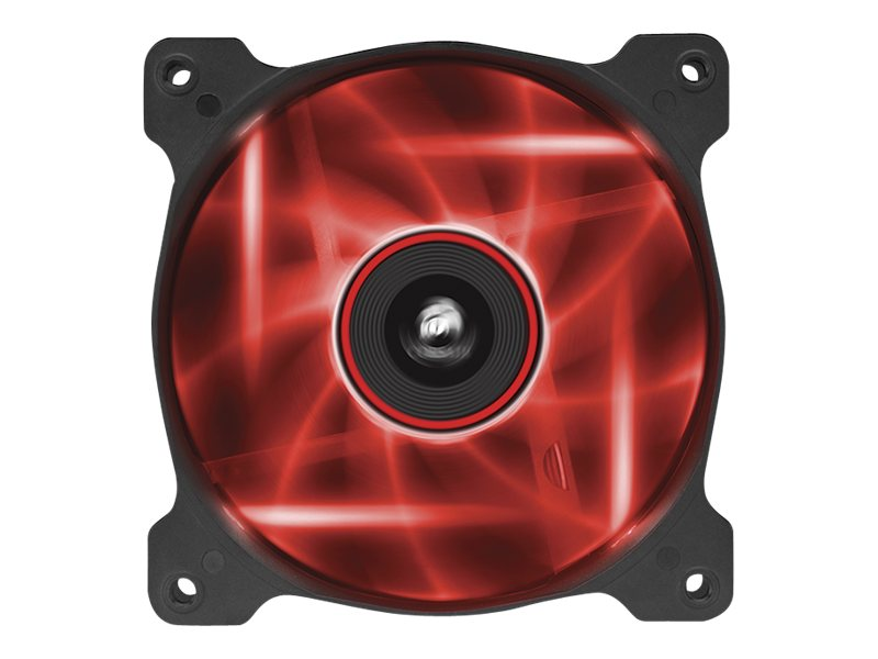Corsair Air Series AF120 Case Fan Quiet Edition Red LED, Single Pack, CO-9050015-RLED, 16375042, Cooling Systems/Fans