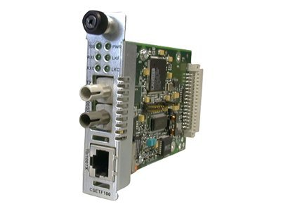 Transition Point System Slide-In-Module Media Converter 10 100BaseTX RJ-45 to 10 100BaseSX 850nm MMF ST 300m, CSETF1011-205, 5101919, Network Transceivers