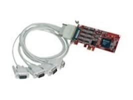 Comtrol RocketPort PCI Express Quadcable 4-Port DB9M RS232 422 485, 30126-4, 8161693, Remote Access Hardware