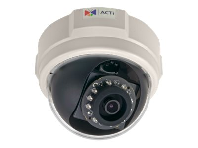 Acti 2MP Indoor Dome with D N, Adaptive IR, Basic WDR, SLLS, Fixed lens, E58