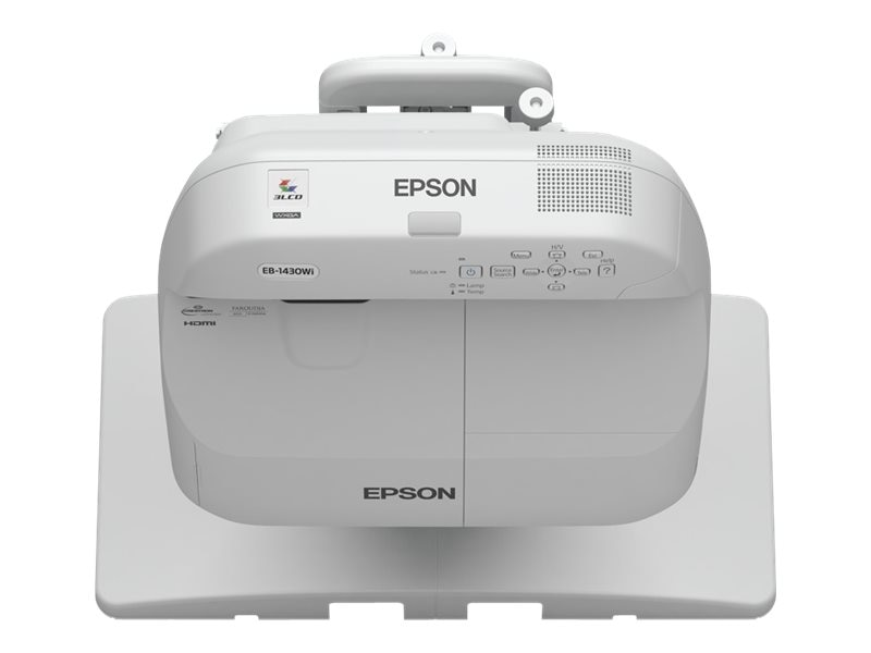Epson Bundle BrightLink Pro 1430Wi Projector with 100 All-In-One Whiteboard, V12HAN200-B3
