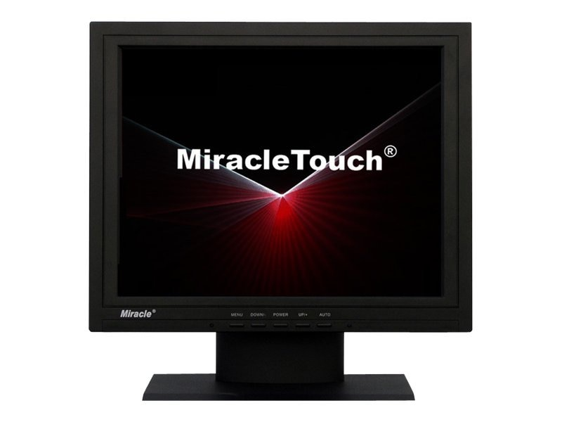 Miracle Business 15 Color Touchscreen TFT LCD 250cd sq. m, 1024 x 768, ELO Driver, Black Case, LT15H-EU, 8531041, POS/Kiosk Systems