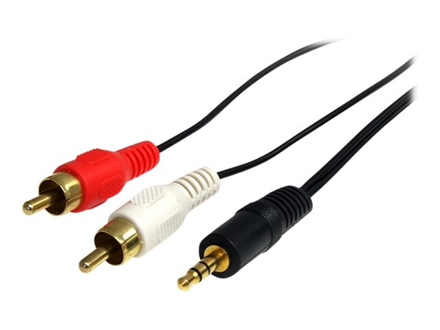 StarTech.com Audio Cable Miniphone 3.5mm Male  2x RCA Male, 6ft, MU6MMRCA, 439044, Cables