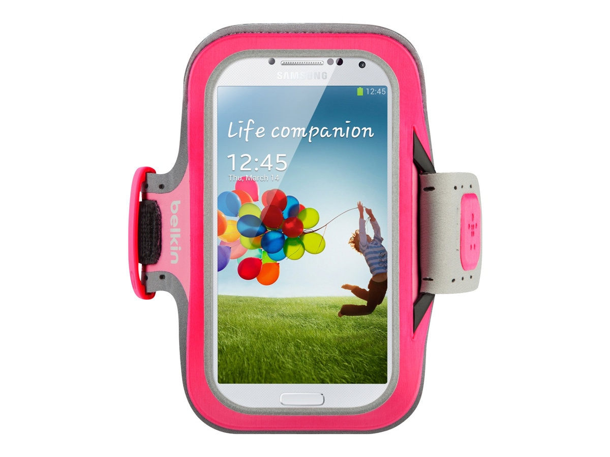 Belkin Slim-Fit Armband for Samsung Galaxy S4, Fuchsia, F8M558BTC01, 15960987, Carrying Cases - Phones/PDAs