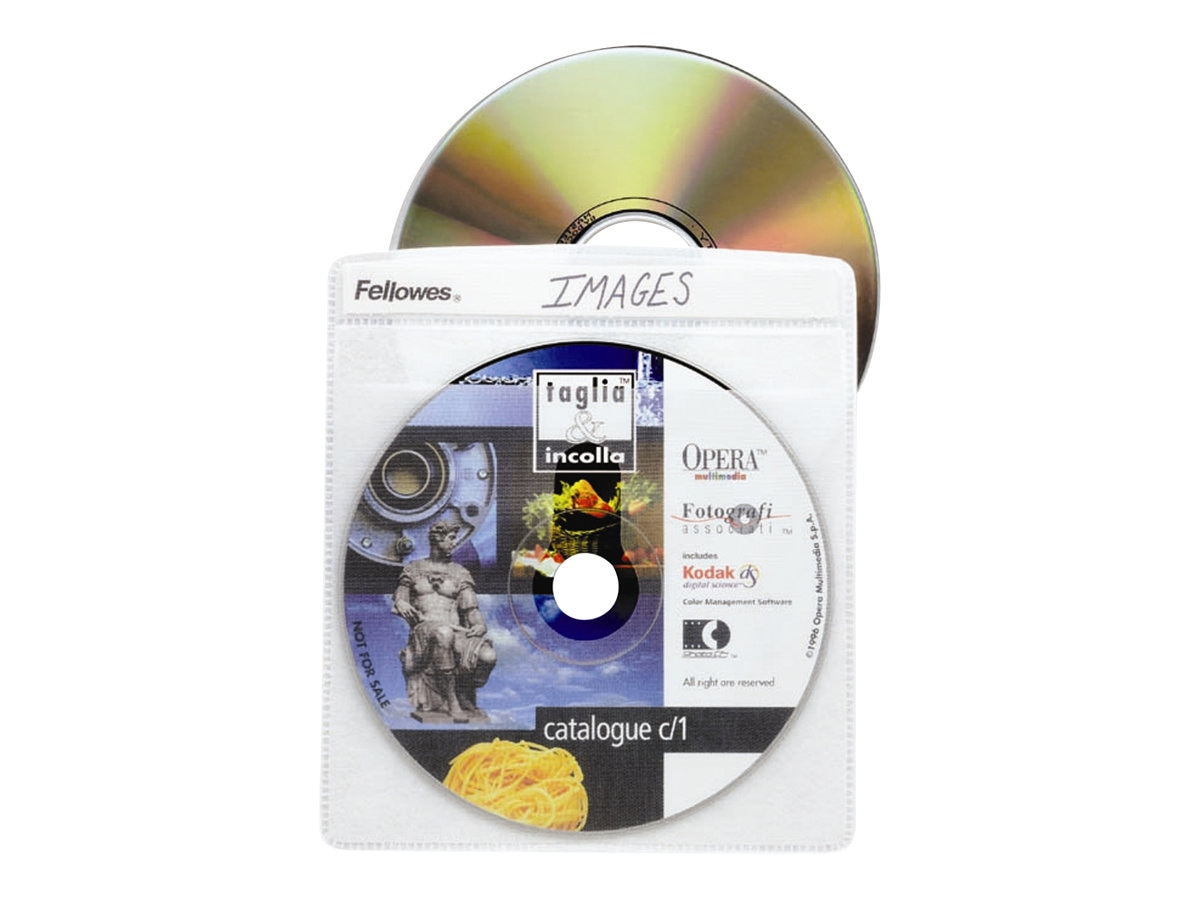 Fellowes CD Sleeve for 2 CDs, 25-pack