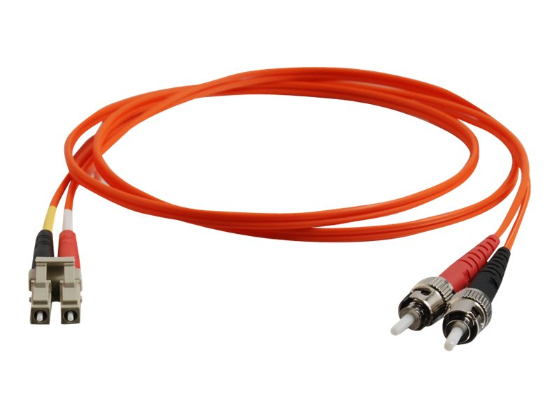 C2G Fiber Optic Cable, Duplex LC-ST, 62 125, Multimode, 5m