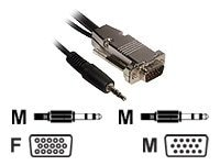 C2G Monitor Cable with Audio, HDDB15 (M-F), Plenum, Black, 75ft, 40690, 8399466, Cables