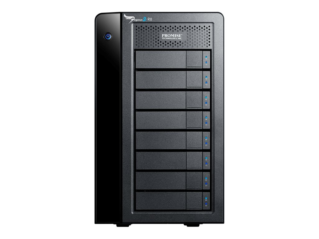 Promise 24TB Pegasus2 R8 Thunderbolt 2 Hardware RAID Storage Solution, P2R8HD24US, 16445741, Hard Drives - External