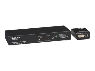 Black Box DVI-D EXTENDER WITH AUDIO AND EDID