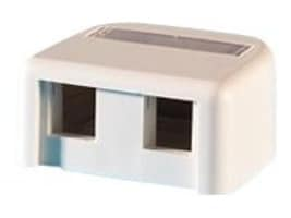 Ortronics Surface Mount Box for Two Keystone Jacks or Modules, OR-KSSMB2, 32023549, Premise Wiring Equipment