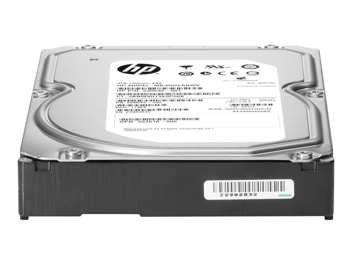 HPE 4TB SAS 6Gb s 7.2K RPM LFF 3.5 Low Profile Midline Hard Drive, 797267-B21