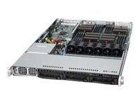 Supermicro Server, 1U RM, Quad Opteron 6000, Max 512GB DDR3, 3x3.5 SATA HS, 1400W PS