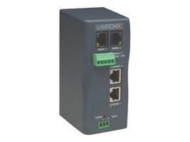 Lantronix XPress-DR+ Two Port Industrial Device Server with Dual Switched Ethernet Ports, Industrial Protocol, XSDR22000-01, 7176332, Remote Access Servers