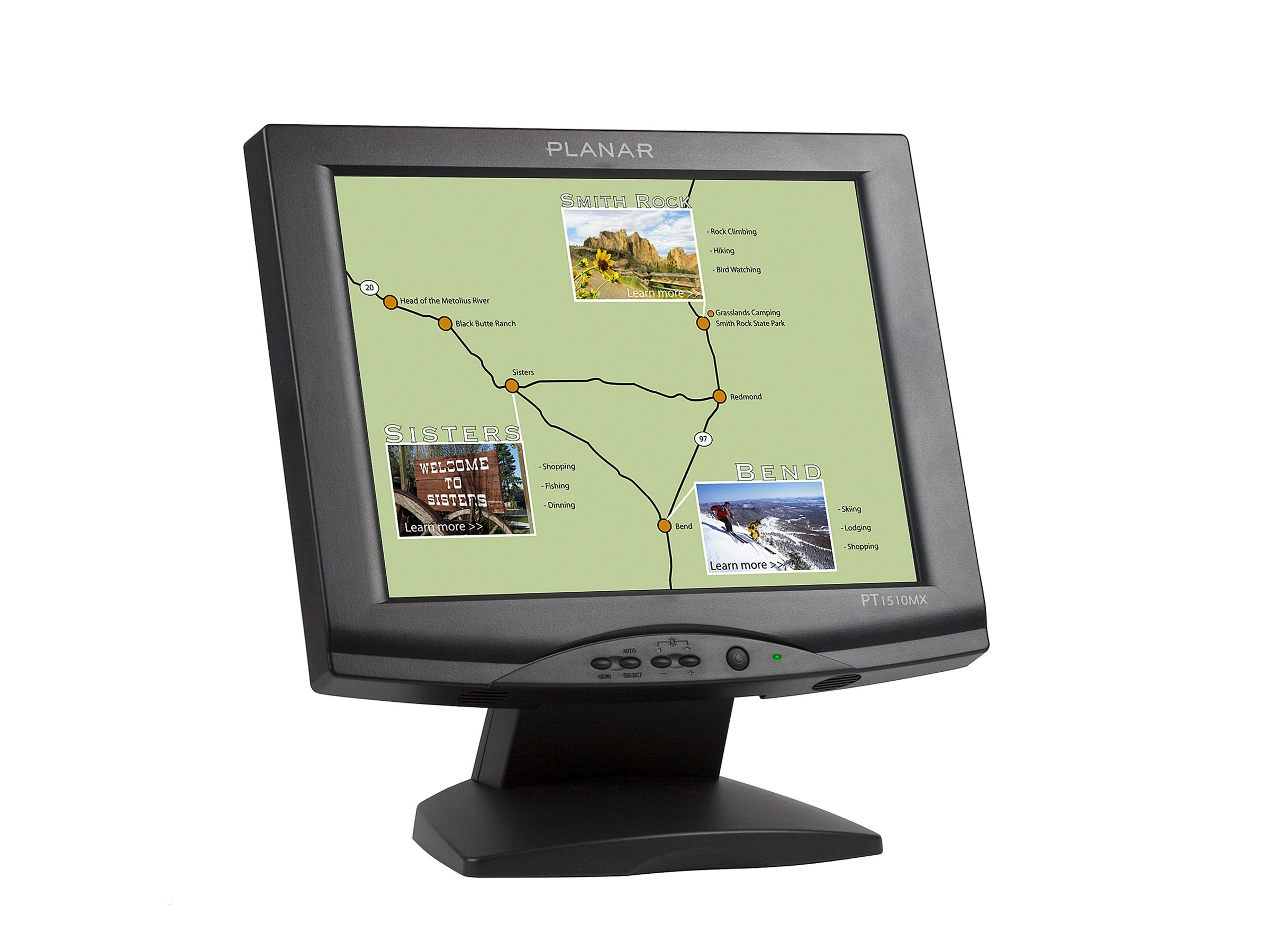 Planar 15 PT1510MX LCD Touchscreen Monitor with Speakers, Black, 997-3198-00