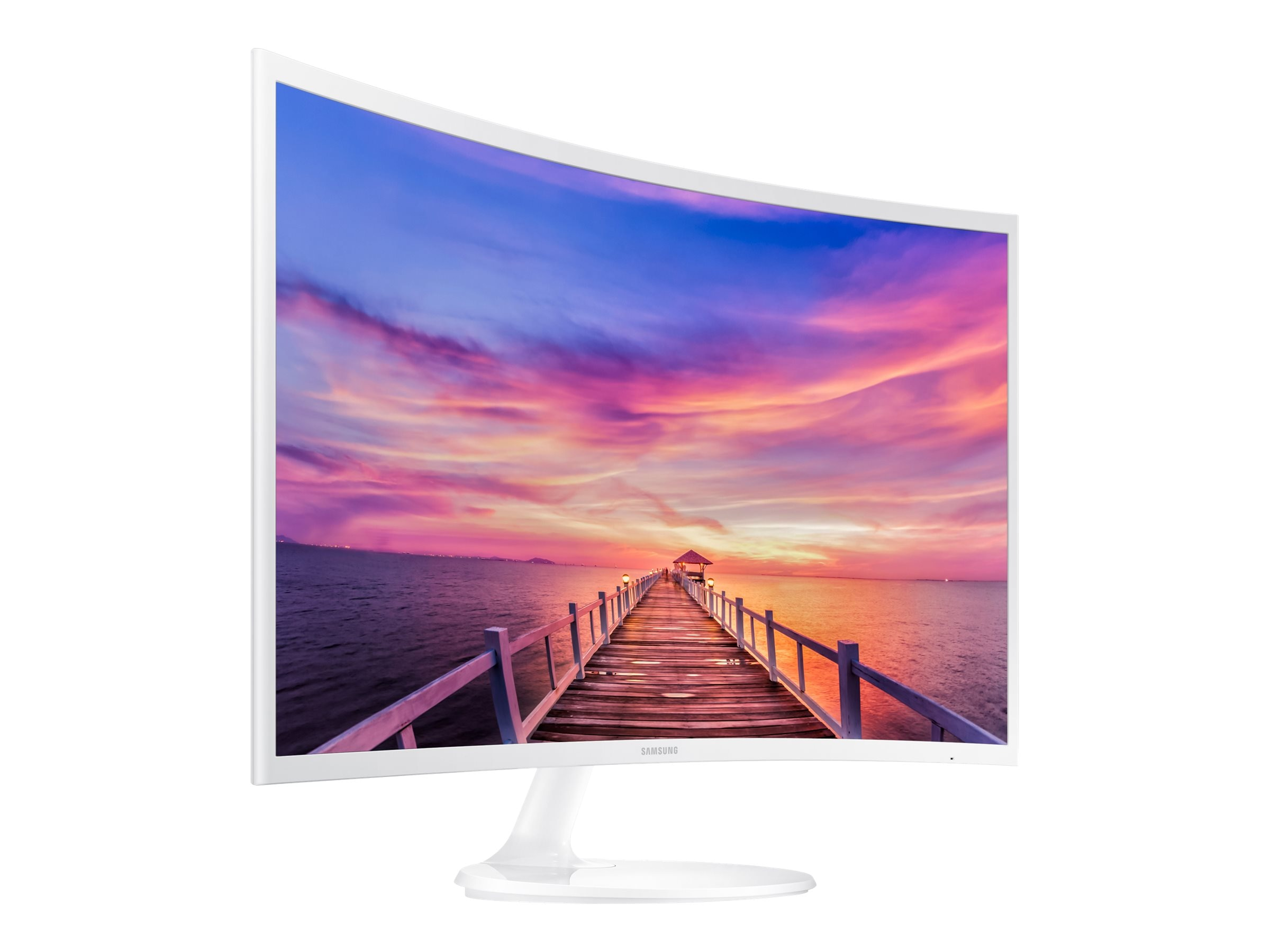 Samsung 32 CF391 Full HD LED Curved Monitor, White, LC32F391FWNXZA